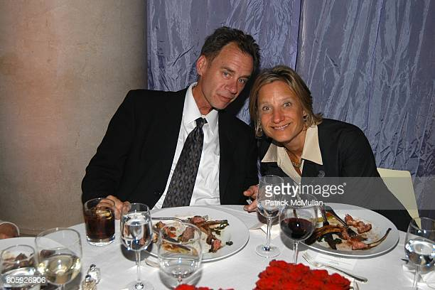 David Carr and Beth Kseniak attend VANITY FAIR Tribeca Film Festival Party hosted by Graydon Carter and Robert DeNiro at The State Supreme Courthouse...
