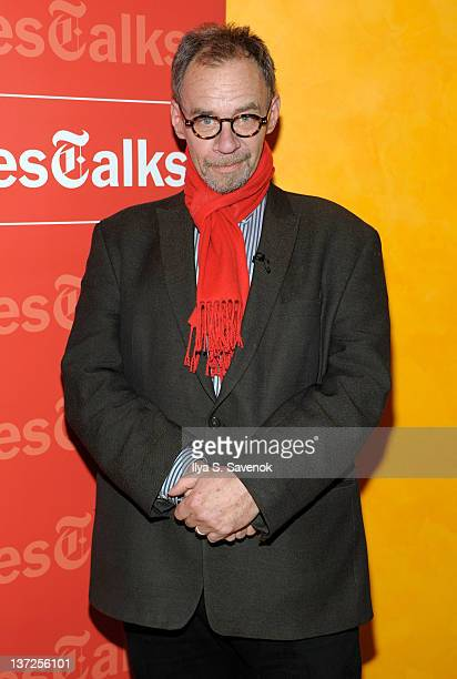 David Carr attends the New York Times TimesTalk at The Times Center on January 17 2012 in New York City