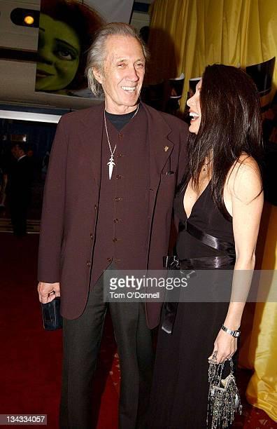 David Carradine and Annie Bierman during 'Kill Bill Vol 2' Dublin Premiere at Savoy Cinema in Dublin Ireland