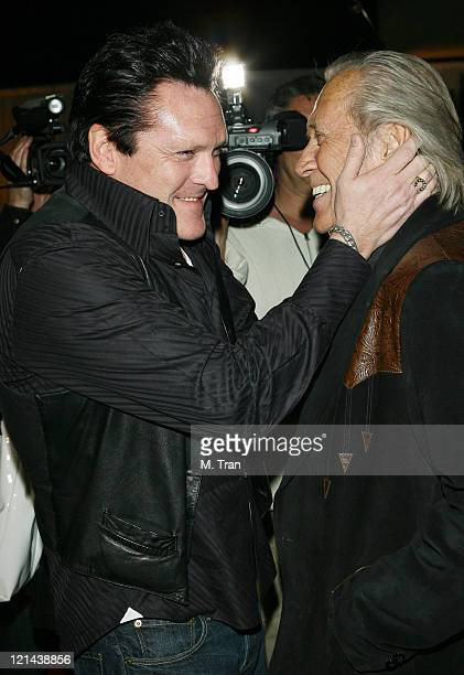 David Carradine and Michael Madsen during Signature at Haven February 21 2007 at Haven in Beverly Hills California United States