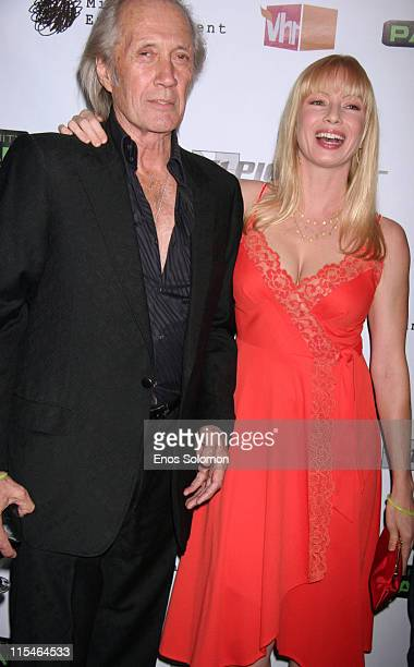 David Carradine and Traci Lords during Screening and Launch Party for VH1's New Series ''Celebrity Paranormal Project'' at Social Hollywood in Los...