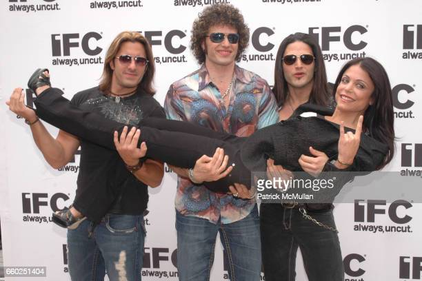 David Casatta Paulie Z David Z and Bethenny Frankel attend IFC CELEBRATES SEASON 2 OF ROCK WITH AMERICA'S HOTTEST ROCKER MOM CONTEST at Madison...