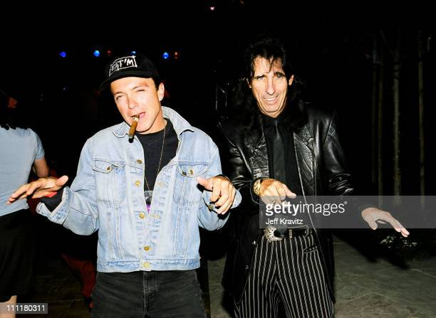 David Cassidy and Alice Cooper during 1998 Fairway to Heaven Golf Tournament in Las Vegas Nevada United States