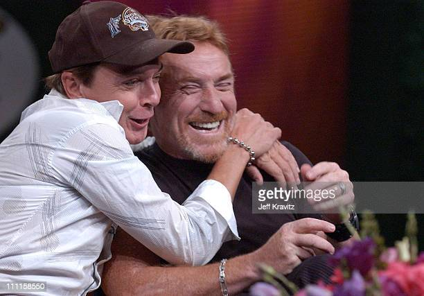 David Cassidy and Danny Bonaduce during MTV Networks TCA July 23 2004 at Century Plaza in Los Angeles California United States