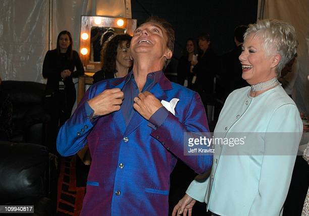 David Cassidy and Shirley Jones during The TV Land Awards Backstage at Hollywood Palladium in Hollywood CA United States