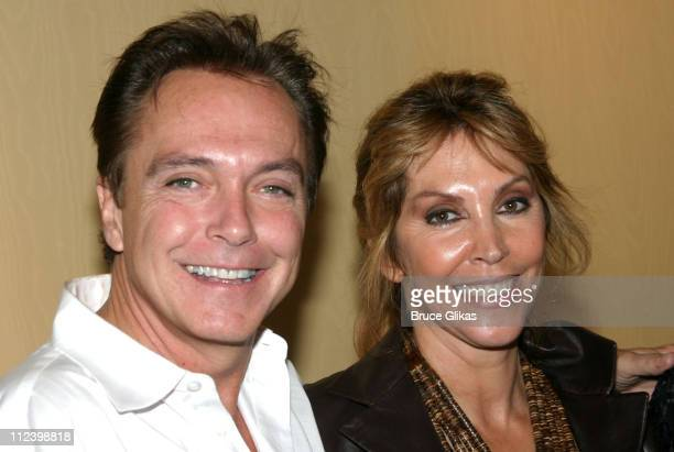 David Cassidy and wife Sue ShifrinCassidy during David Cassidy Visits Mother Shirley Jones and Brother Patrick Cassidy Backstage at '42nd Street' on...