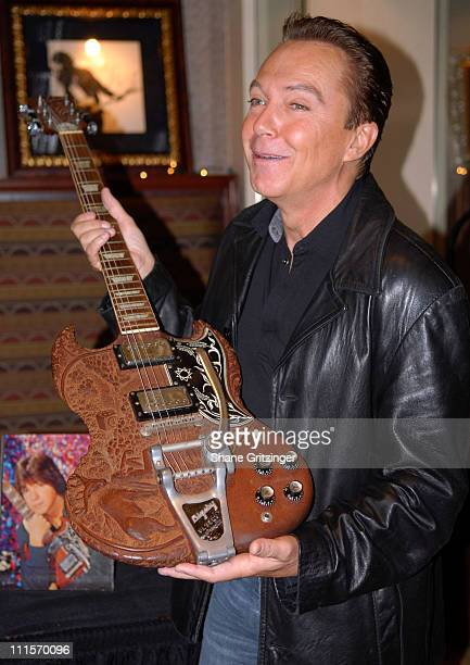 David Cassidy during Property From The Career Of David Cassidy To Hit The Auction Block Press Conference November 28 2006 at Hard Rock Cafe New York...