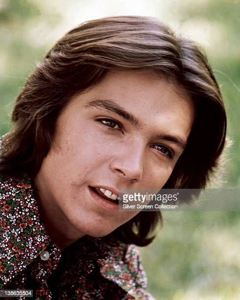 David Cassidy US actor and singer wearing a paisley shirt in a portrait issued as publicity for the US television series 'The Partridge Family' USA...