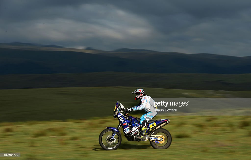 David Casteu of Team Casteu Adventure competes in stage 9 from Tucuman to Cordoba during the 2013 Dakar Rally on January 14 in Tucuman, Argentina.
