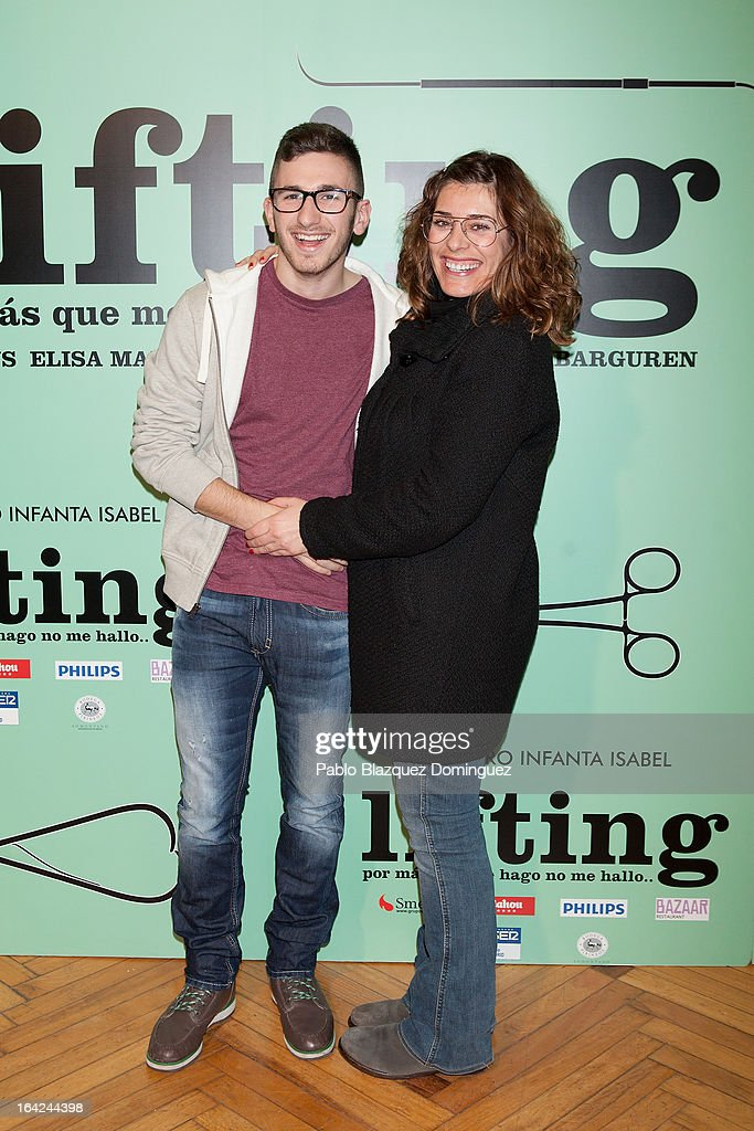 David Castillo and Neus Sanz attend the 'Lifting' premiere at Infanta Isabel Theatre on March 21, 2013 in Madrid, Spain.