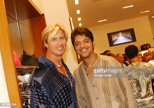 David Chacon and Aaron Hill during Sonia Rykiel Opens New Boutique at Village of Merrick Park at Village of Merrick Park in Coral Gables Florida...