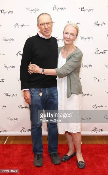 David Chandler and Kathleen Chalfant attend the meet Greet for Playwrights Horizons New York Premiere pf 'For Peter Pan on her 70th Birthday' on July...