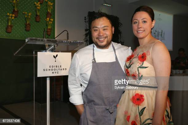 David Chang and Kate Brashares attend Edible Schoolyard NYC 2017 Spring Benefit at Metropolitan West on April 24 2017 in New York City