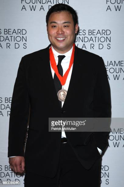David Chang attends The 2009 JAMES BEARD FOUNDATION AWARDS at Avery Fisher Hall at Lincoln Center on May 4 2009 in New York City