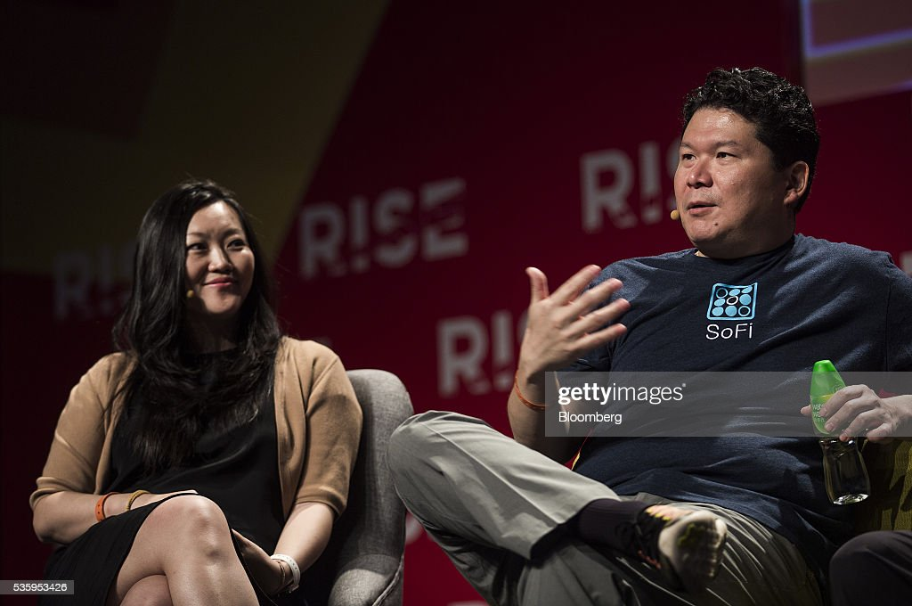 David Chao, co-founder and general partner of DCM Ventures, right, speaks as Anna Fang, partner and chief executive officer of ZhenFund, listens during the Rise conference in Hong Kong, China, on Tuesday, May 31, 2016. The conference runs through June 2. Photographer: Justin Chin/Bloomberg via Getty Images
