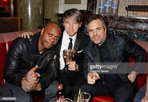 David Chappelle Tom Cross and Mark Ruffalo attend The Weinstein Company Entertainment Film Distributor StudioCanal 2015 BAFTA After Party in...