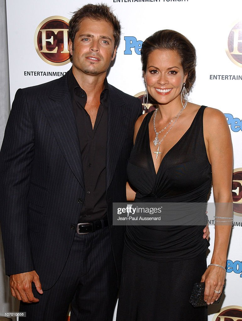David Charvet and Brooke Burke during Entertainment Tonight and People Magazine Emmy After Party Arrivals at Sky Bar in Los Angeles California United...