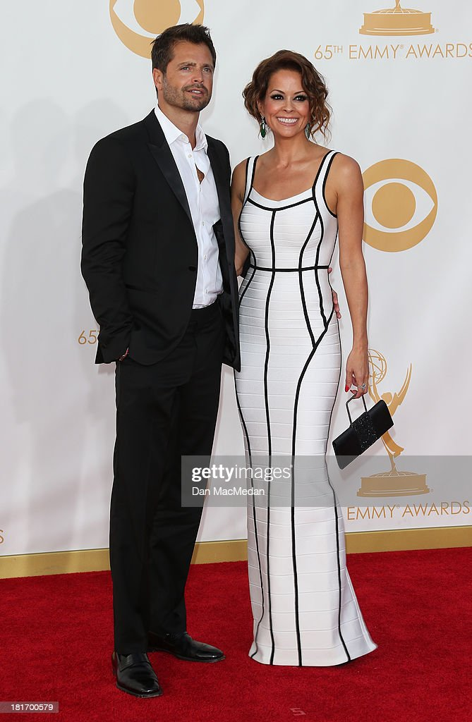 David Charvet and Brooke Burke-Charvet arrive at the 65th Annual Primetime Emmy Awards at Nokia Theatre L.A. Live on September 22, 2013 in Los Angeles, California.