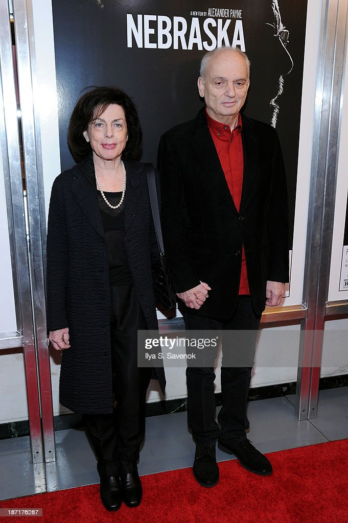 David Chase (R) and Denise Chase attend the 'Nebraska' special screening at Paris Theater on November 6, 2013 in New York City.