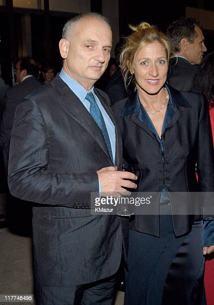 David Chase and Edie Falco during Central Park Conservancy hosts 150th Anniversary of the Park at Mandarin Oriental Hotel in New York City New York...