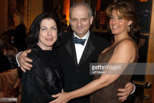 David Chase and Lorraine Bracco during HBO Screen Actors Guild Party at Spago in Beverly Hills CA United States