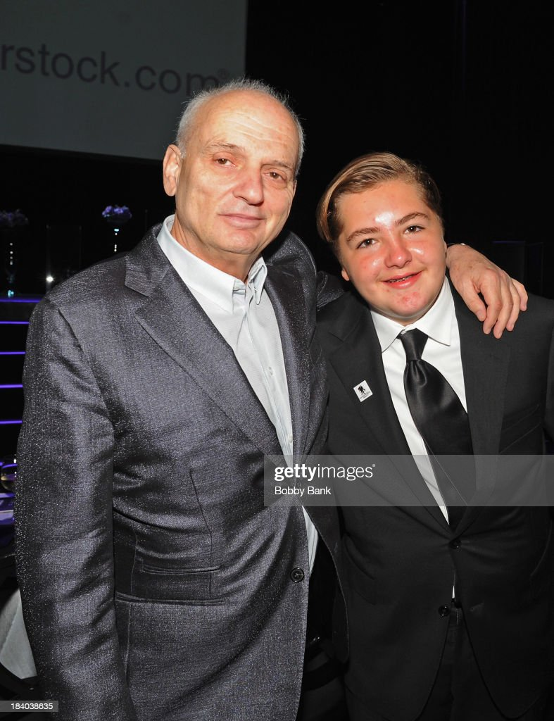 David Chase and Michael Gandolfini attends the Wounded Warrior Project Carry Foward Awards Arrivals at Club Nokia on October 10, 2013 in Los Angeles, California.