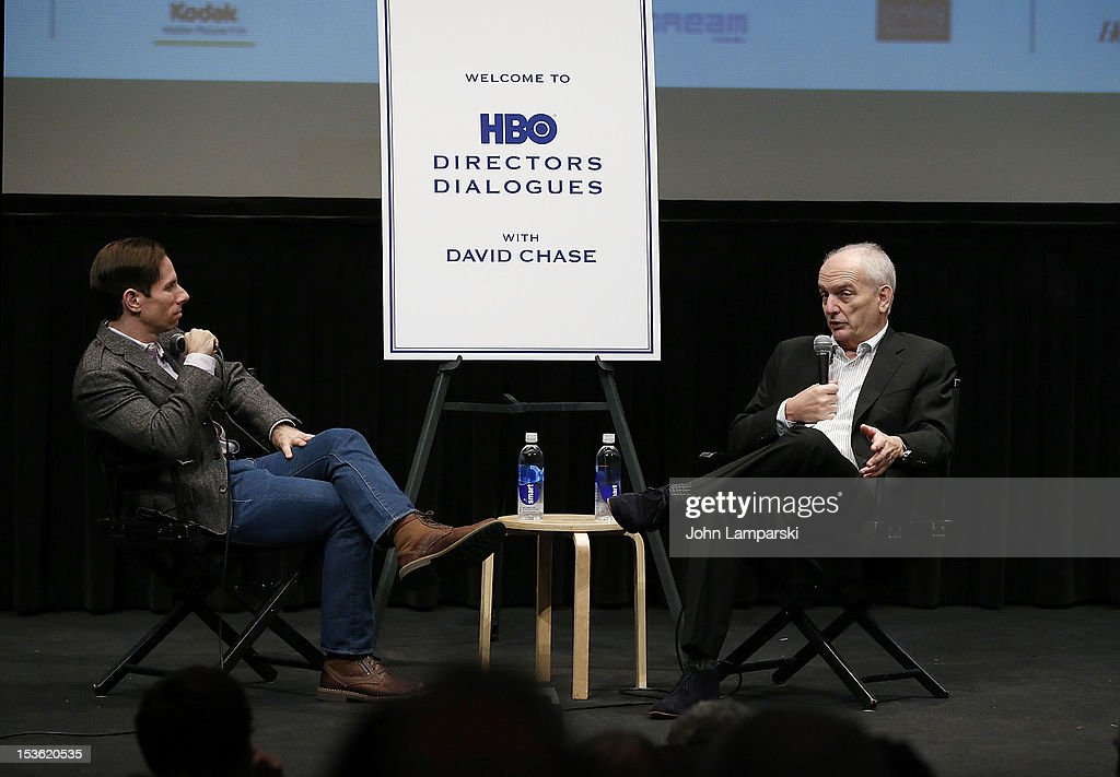 <a gi-track='captionPersonalityLinkClicked' href=/galleries/search?phrase=David+Chase&family=editorial&specificpeople=657831 ng-click='$event.stopPropagation()'>David Chase</a> attends HBO Films Directors Dialogues with <a gi-track='captionPersonalityLinkClicked' href=/galleries/search?phrase=David+Chase&family=editorial&specificpeople=657831 ng-click='$event.stopPropagation()'>David Chase</a> during the 50th New York Film Festival at Lincoln Center on October 7, 2012 in New York City.