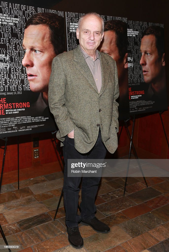 David Chase attends 'The Armstrong Lie' New York premiere at Tribeca Grand Hotel on October 30, 2013 in New York City.