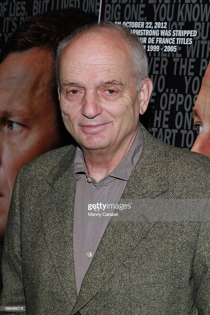 David Chase attends 'The Armstrong Lie' premiere at the Tribeca Grand Hotel on October 30, 2013 in New York City.