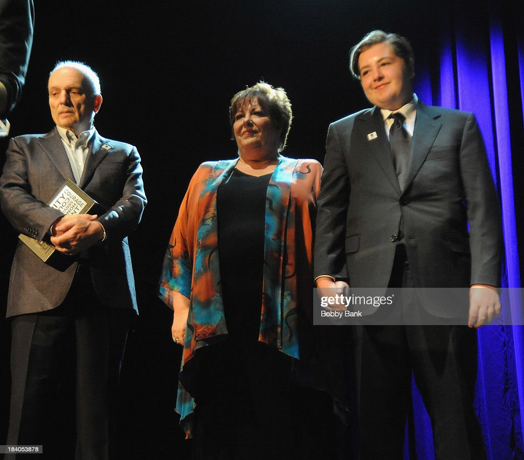 David Chase, Michael Gandolfini and Johanna Antonacci attends the Wounded Warrior Project Carry Forward Awards Show at Club Nokia on October 10, 2013 in Los Angeles, California.