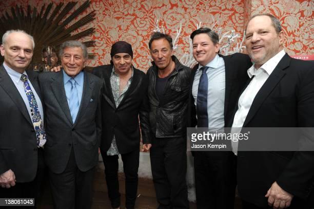 David Chase singer Tony Bennett actor Steven Van Zandt musician Bruce Springsteen Netflix Chief Content Officer Ted Sarandos and Harvey Weinstein...