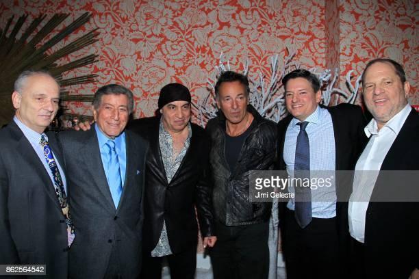 David Chase Tony Bennett Steve Van Zandt Bruce Springsteen Ted Sarandos and Harvey Weinstein attend Premiere Event for LILYHAMMER a NETFLIX Original...
