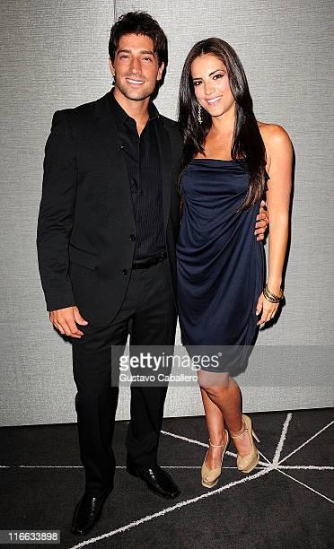 David Chocarro and Gaby Espino attend Telemundo event at W Hotel on June 16 2011 in Miami Florida