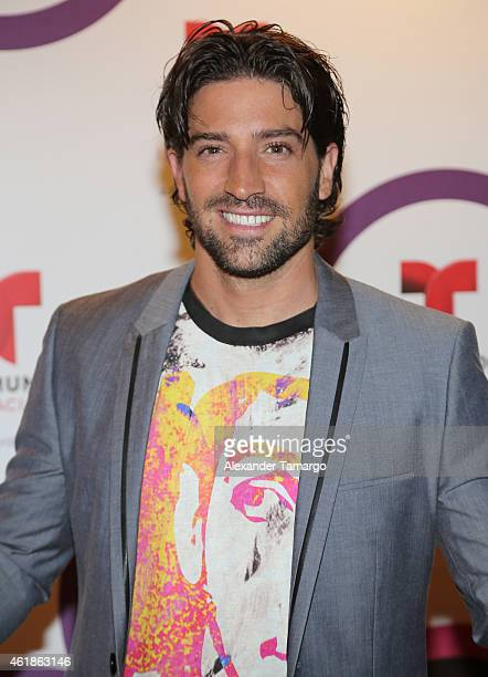 David Chocarro arrives at Telemundo International Welcome Party during NATPE 2015 at Adrienne Arsht Center on January 20 2015 in Miami Florida