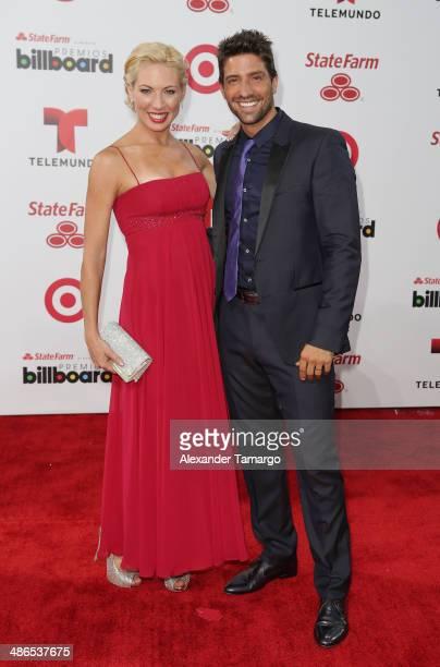 David Chocarro arrives at the 2014 Billboard Latin Music Awards at Bank United Center on April 24 2014 in Miami Florida