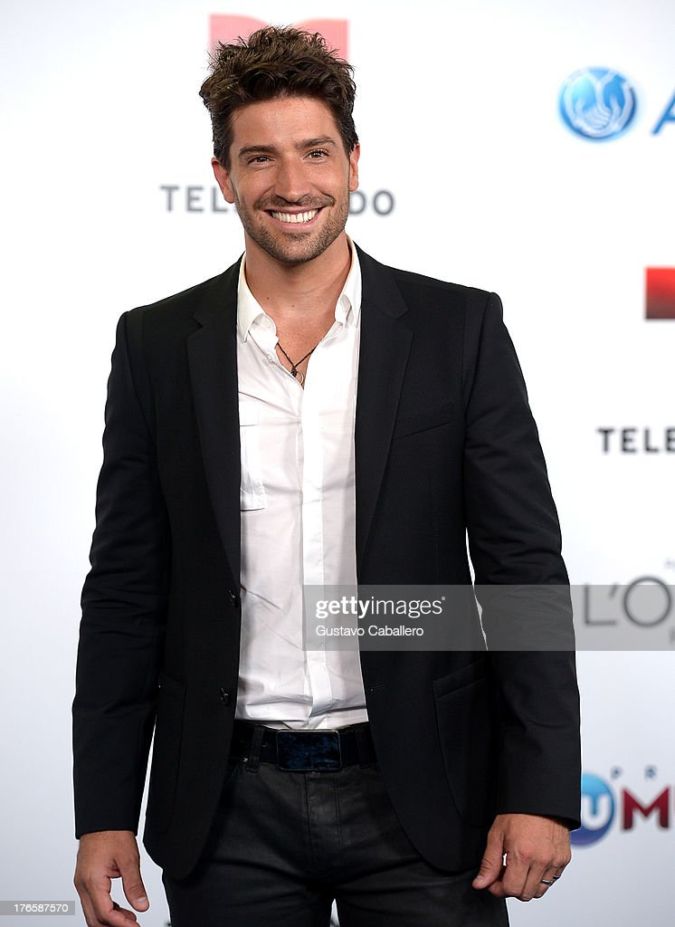 David Chocarro arrives for Telemundo's Premios Tu Mundo Awards at American Airlines Arena on August 15, 2013 in Miami, Florida.