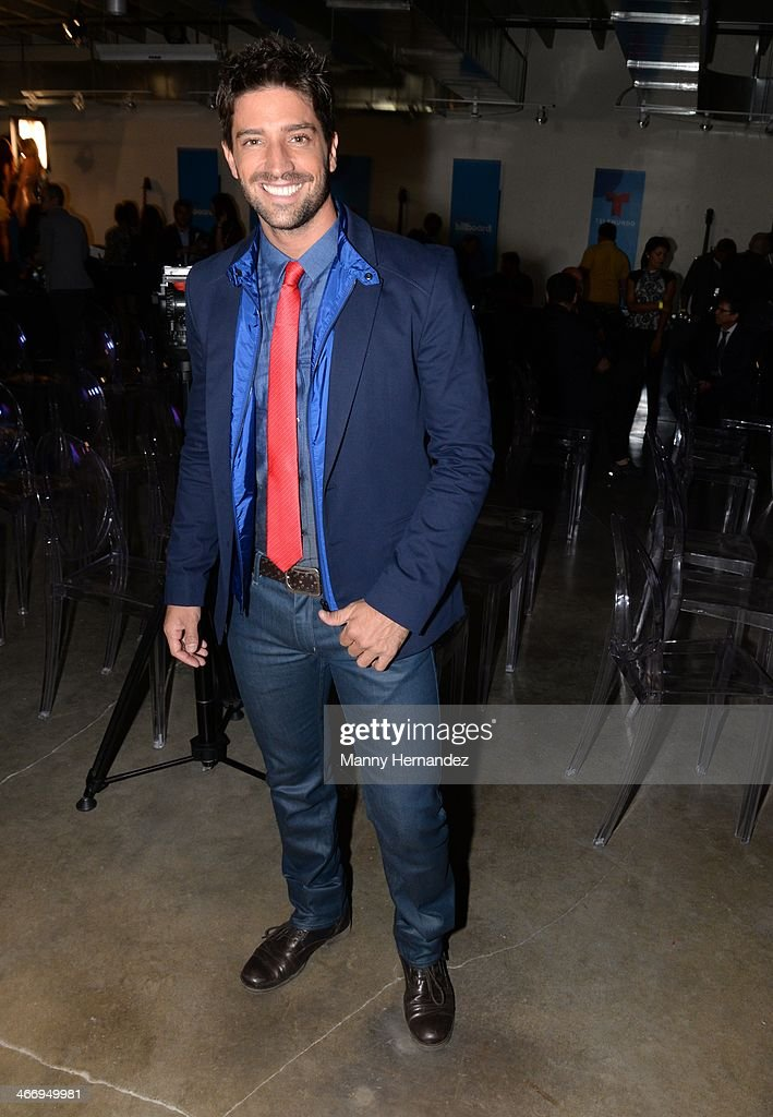 David Chocarro attends 2014 Billboard Latin Music Awards Press Conference to announce nominations at Gibson Miami Showroom on February 5, 2014 in Miami, Florida.