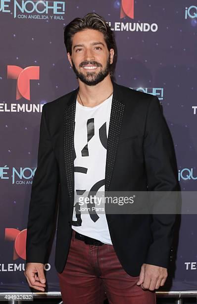 David Chocarro attends Telemundo 'Que Noche With Angelica And Raul' on October 29 2015 in Miami Florida