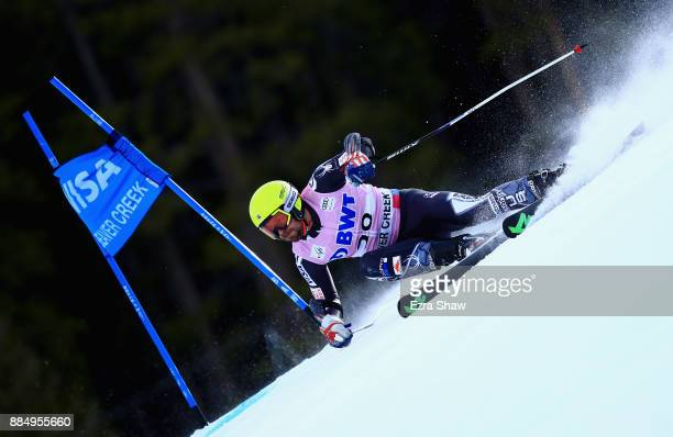 David Chodounsky of the United States competes in the first run of the Birds of Prey World Cup Giant Slalom race on December 3 2017 in Beaver Creek...