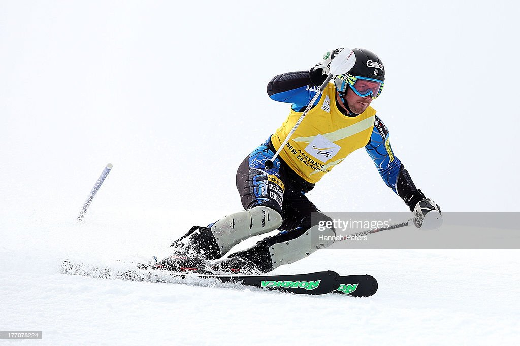 <a gi-track='captionPersonalityLinkClicked' href=/galleries/search?phrase=David+Chodounsky&family=editorial&specificpeople=7425099 ng-click='$event.stopPropagation()'>David Chodounsky</a> of the USA competes during the Alpine Slalom (FIS Australia New Zealand Cup) during day seven of the Winter Games NZ at Coronet Peak on August 21, 2013 in Queenstown, New Zealand.