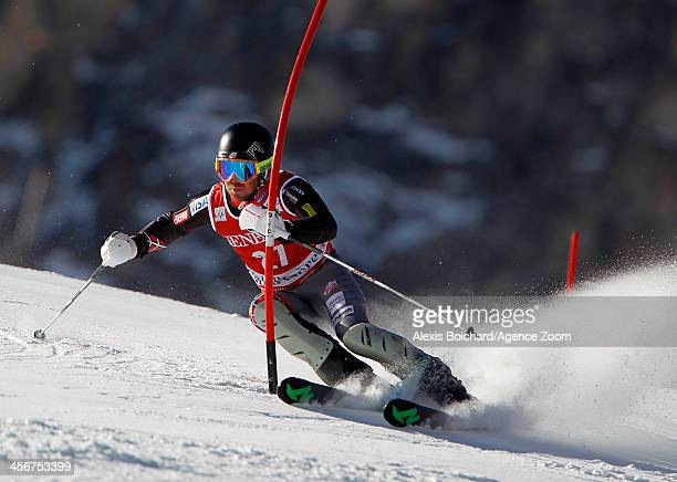 David Chodounsky of the USA competes during the Audi FIS Alpine Ski World Cup Men's Slalom on December 15 2013 in Val d'Isere France
