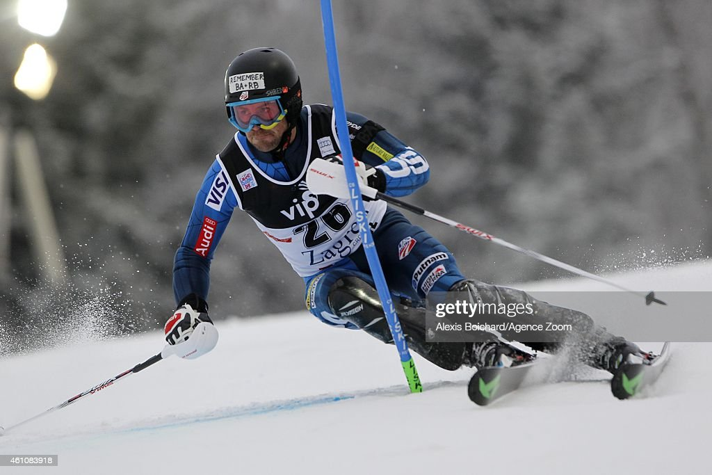 <a gi-track='captionPersonalityLinkClicked' href=/galleries/search?phrase=David+Chodounsky&family=editorial&specificpeople=7425099 ng-click='$event.stopPropagation()'>David Chodounsky</a> of the USA competes during the Audi FIS Alpine Ski World Cup Men's Slalom on January 06, 2015 in Zagreb, Croatia.