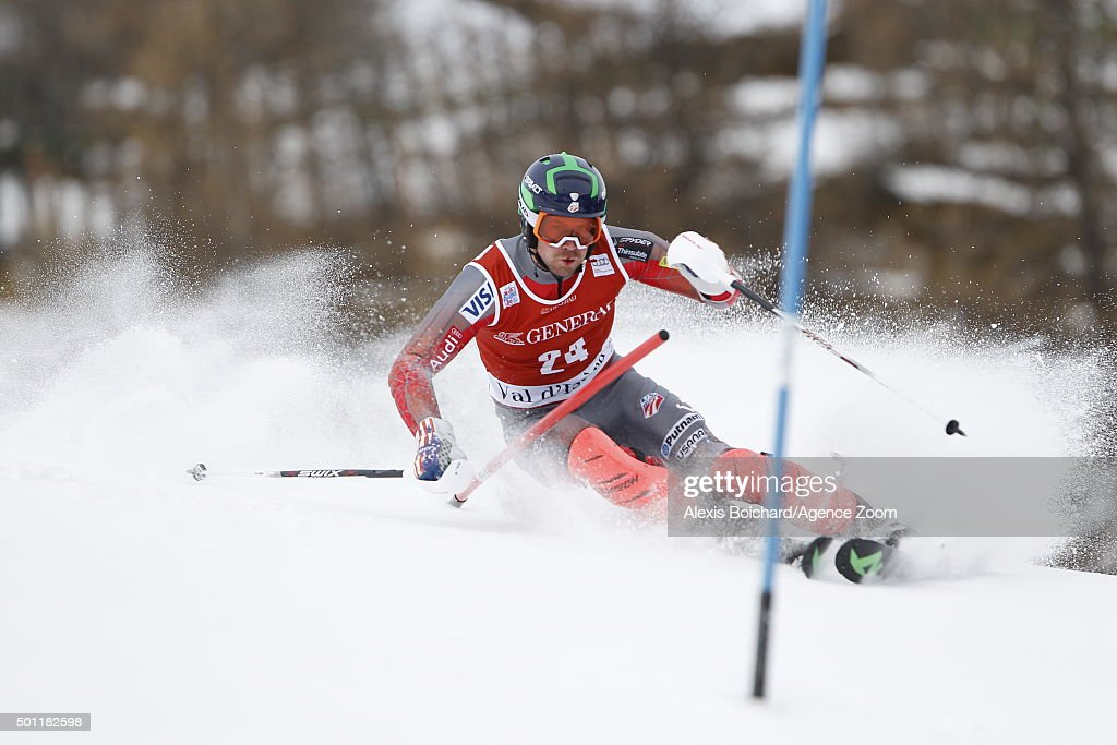 <a gi-track='captionPersonalityLinkClicked' href=/galleries/search?phrase=David+Chodounsky&family=editorial&specificpeople=7425099 ng-click='$event.stopPropagation()'>David Chodounsky</a> of the USA competes during the Audi FIS Alpine Ski World Cup Men's Slalom on December 13, 2015in Val d'Isere, France.