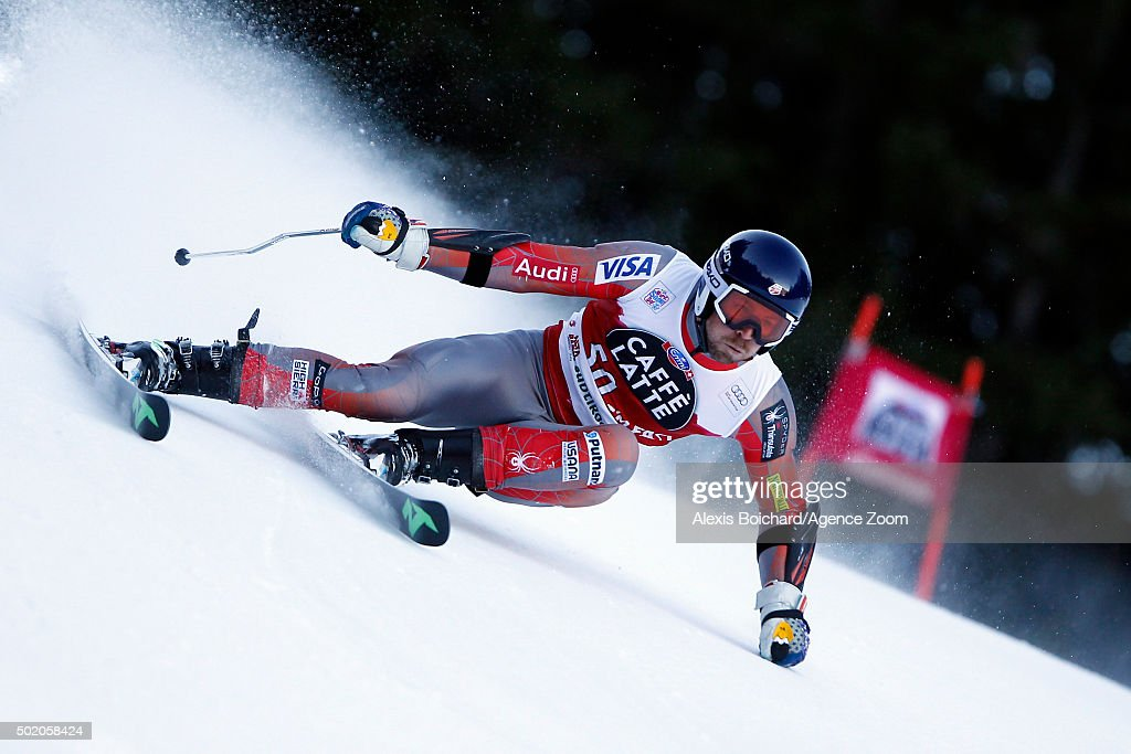 <a gi-track='captionPersonalityLinkClicked' href=/galleries/search?phrase=David+Chodounsky&family=editorial&specificpeople=7425099 ng-click='$event.stopPropagation()'>David Chodounsky</a> of the USA competes during the Audi FIS Alpine Ski World Cup Men's Giant Slalom on December 20, 2015 in Alta Badia, Italy.