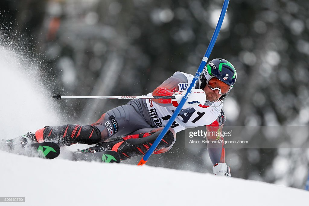 <a gi-track='captionPersonalityLinkClicked' href=/galleries/search?phrase=David+Chodounsky&family=editorial&specificpeople=7425099 ng-click='$event.stopPropagation()'>David Chodounsky</a> of the USA competes during the Audi FIS Alpine Ski World Cup Men's Slalom on January 24, 2016 in Kitzbuehel, Austria.