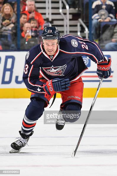 David Clarkson of the Columbus Blue Jackets skates against the Toronto Maple Leafs on October 16 2015 at Nationwide Arena in Columbus Ohio