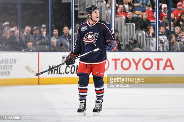 David Clarkson of the Columbus Blue Jackets skates against the New Jersey Devils on February 28 2015 at Nationwide Arena in Columbus Ohio