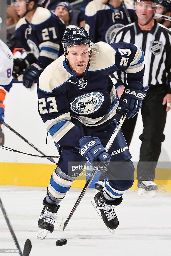 David Clarkson of the Columbus Blue Jackets skates against the New York Islanders on October 20 2015 at Nationwide Arena in Columbus Ohio
