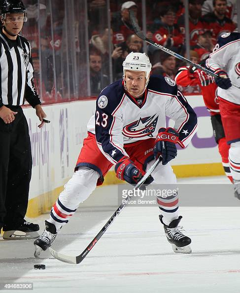David Clarkson of the Columbus Blue Jackets skates against the New Jersey Devils at the Prudential Center on October 27 2015 in Newark New Jersey