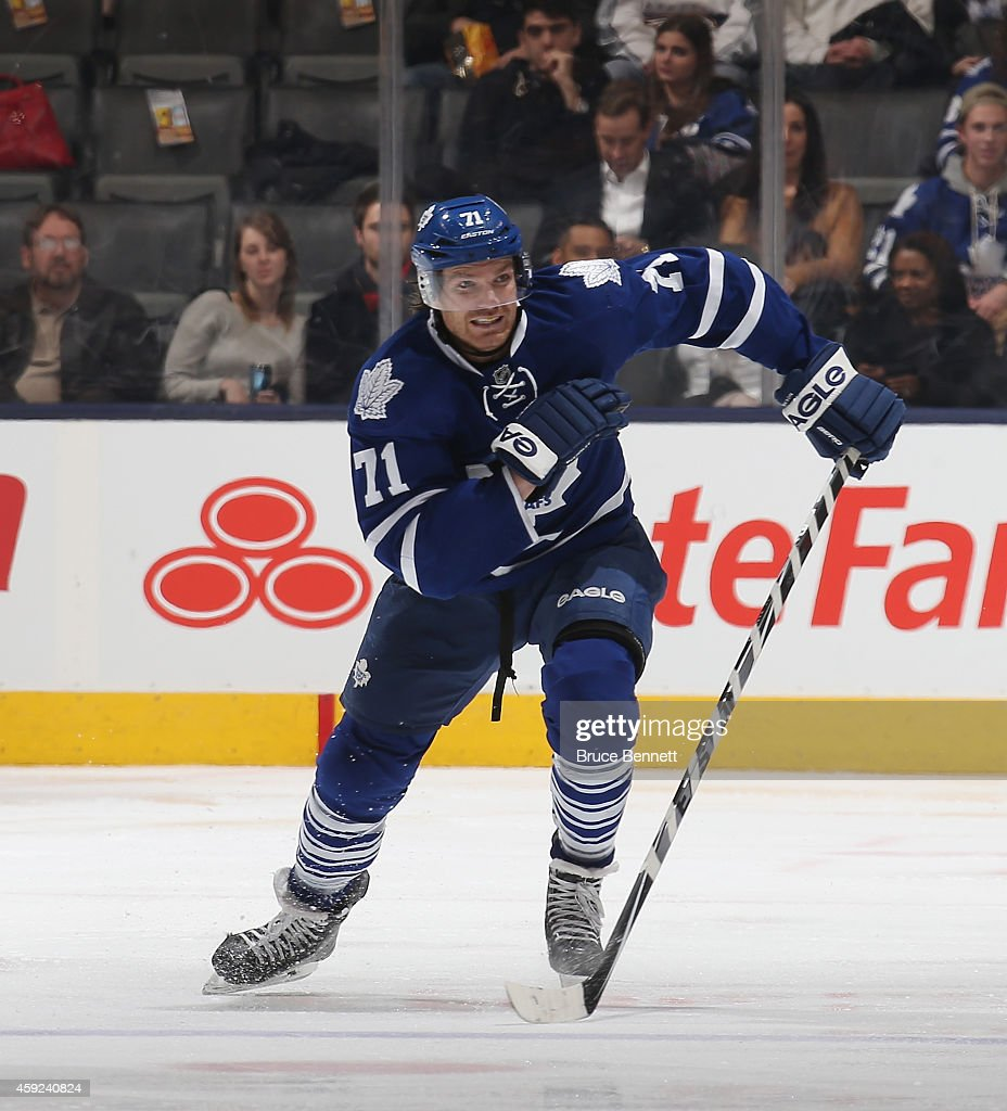 David Clarkson of the Toronto Maple Leafs skates against the Nashville Predators at the Air Canada Centre on November 18 2014 in Toronto Canada The...